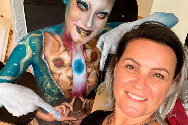 Letizia Borella con Francesca Cavicchio